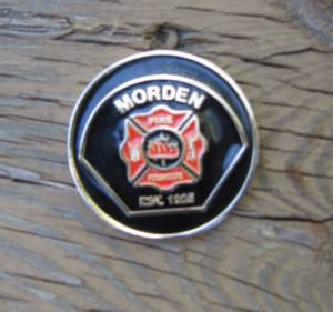 Morden Fire Department Challenge Coin - Morden Fire and Rescue